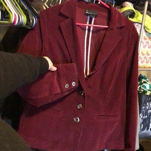 Burgundy corduroy blazer
